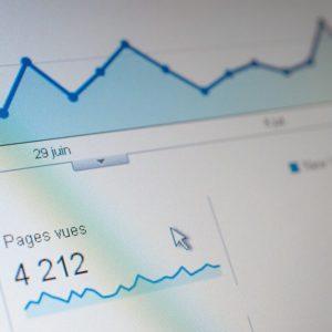 Website traffic grafiek