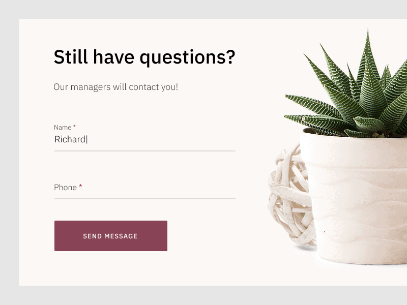 Questions pop-up